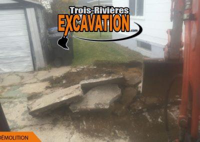 mini-excavation à Trois-Rivières