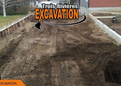 excavation pour renforcement d'une entrée de garage